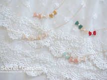 triple ribbon *** necklace