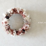 rose dress wreath..pwc.